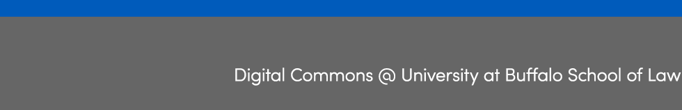 Digital Commons @ University at Buffalo School of Law