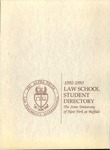 1992-1993 Law School Student Directory by University at Buffalo School of Law