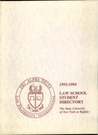 1993-1994 Law School Student Directory by University at Buffalo School of Law