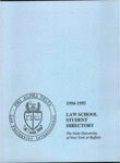 1995-1996 Law School Student Directory by University at Buffalo School of Law