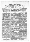 The Opinion Volume 1 Number 2 – February 20, 1950 by The Opinion