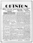 The Opinion Volume 3 Number 1 – October 22, 1951 by The Opinion