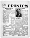 The Opinion Volume 4 Number 1 – September 1, 1952 by The Opinion