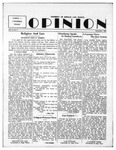 The Opinion Volume 4 Number 2 – November 1, 1952 by The Opinion