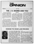 The Opinion Volume VI Number 2 – May 1, 1966