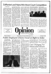The Opinion Volume 22 Number 5 – November 19, 1981