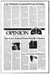 The Opinion Volume 26 Number 4 – October 30, 1985 by The Opinion