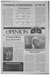 The Opinion Volume 32 Number 5 – October 16, 1991